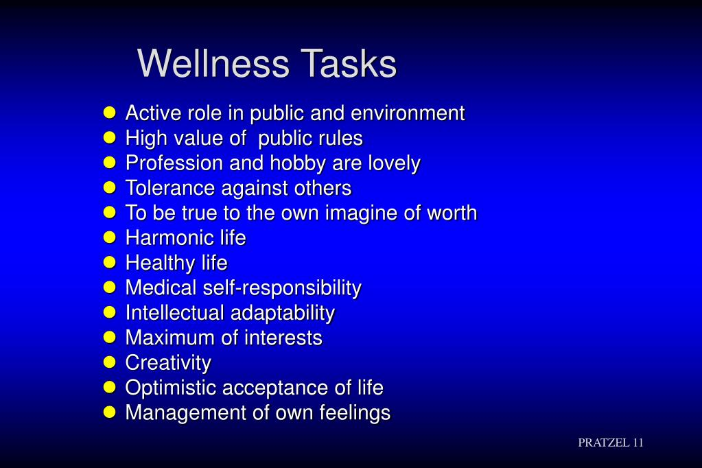 Wellness Tasks