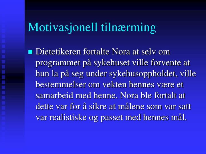 Motivasjonell tilnærming