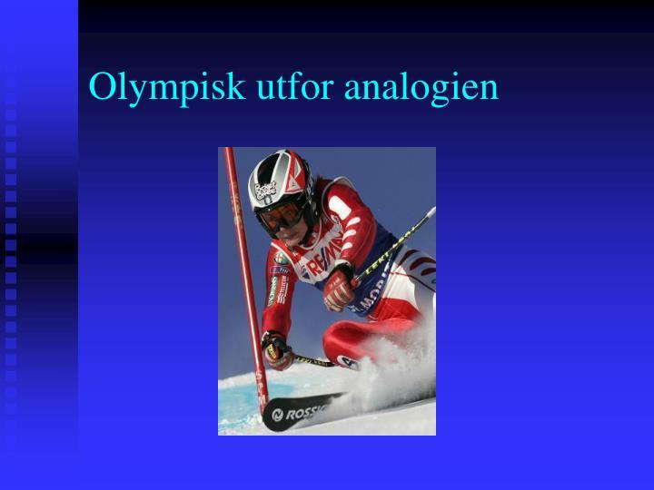 Olympisk utfor analogien