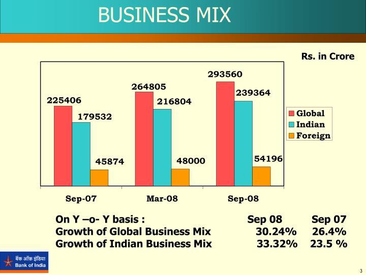 BUSINESS MIX