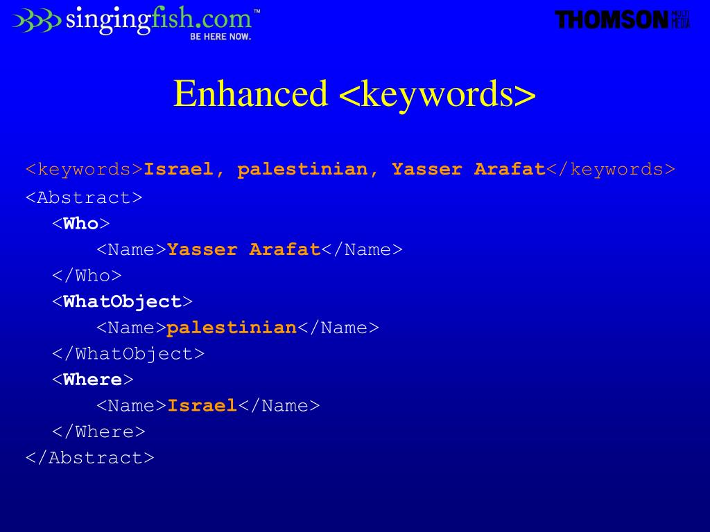 Enhanced <keywords>