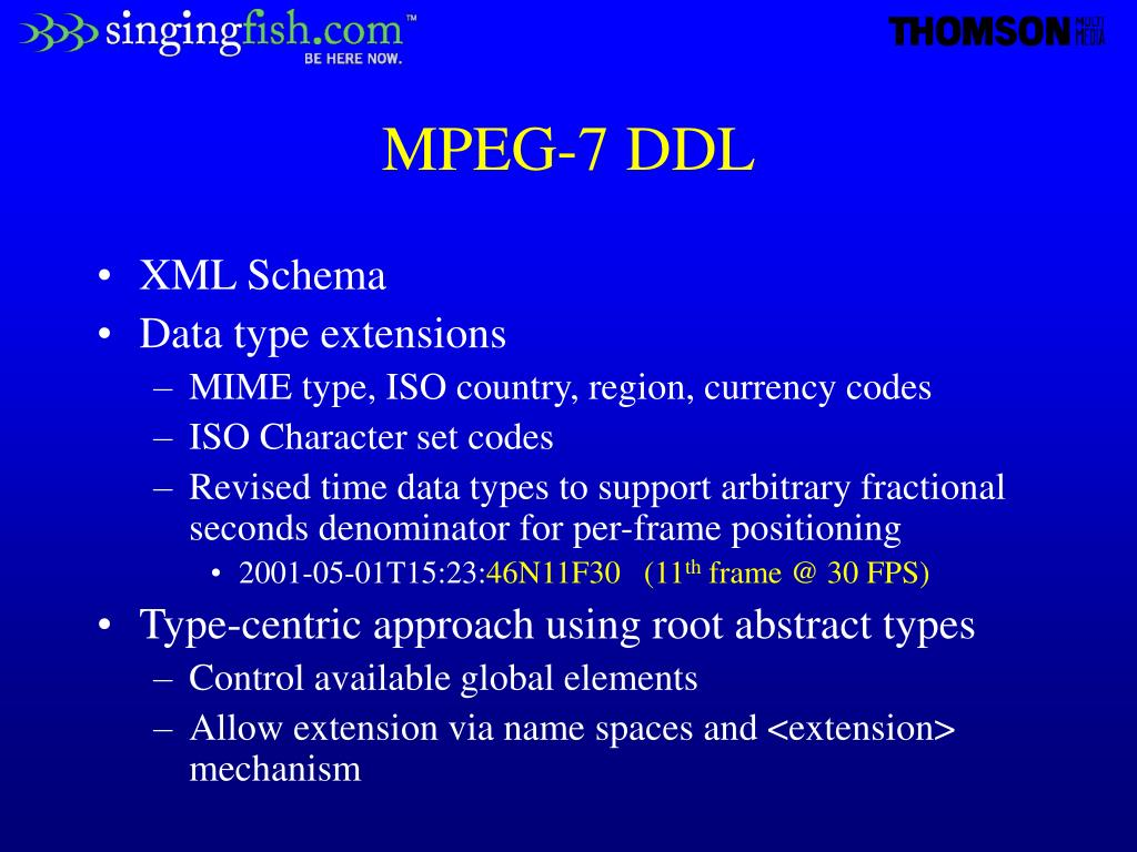 MPEG-7 DDL