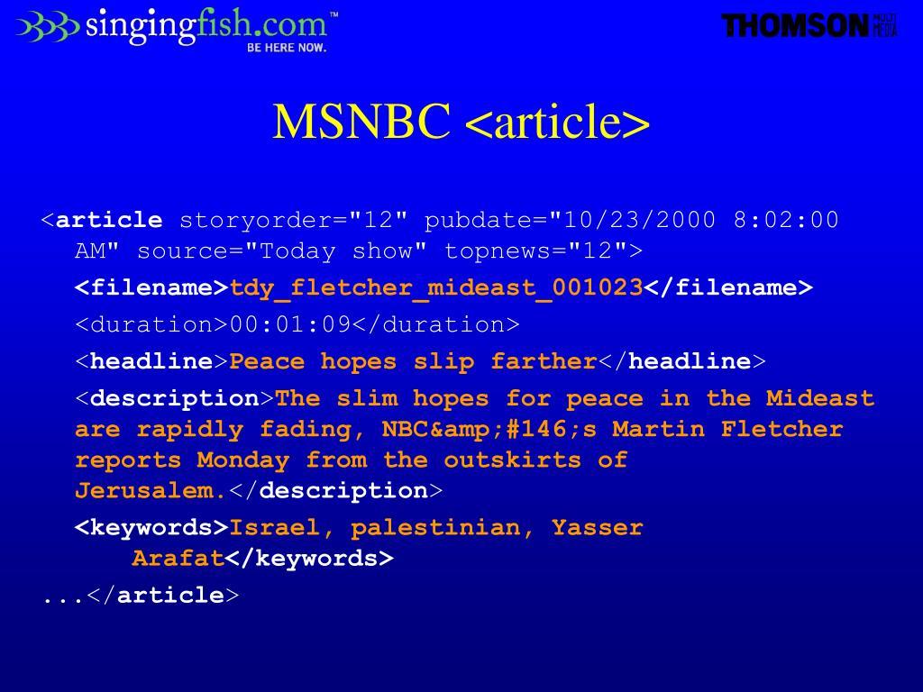 MSNBC <article>