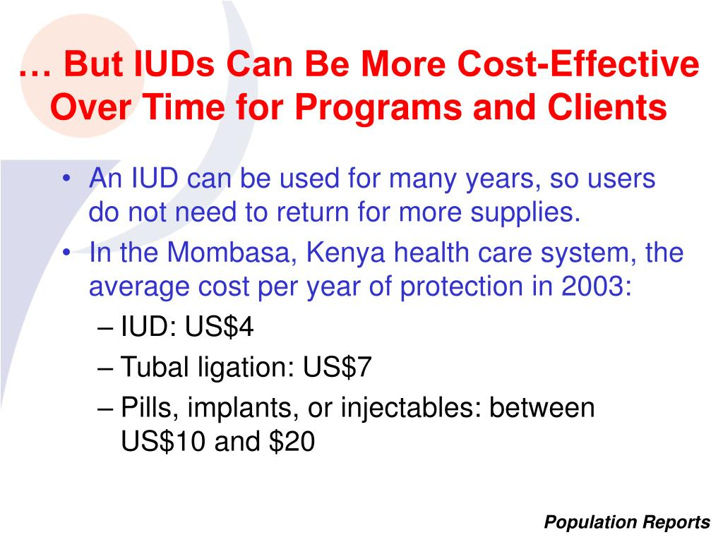… But IUDs Can Be More Cost-Effective Over Time for Programs and Clients