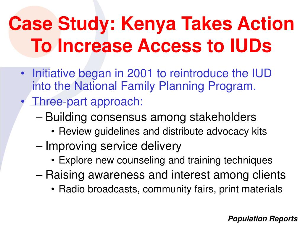 Case Study: Kenya Takes Action To Increase Access to IUDs