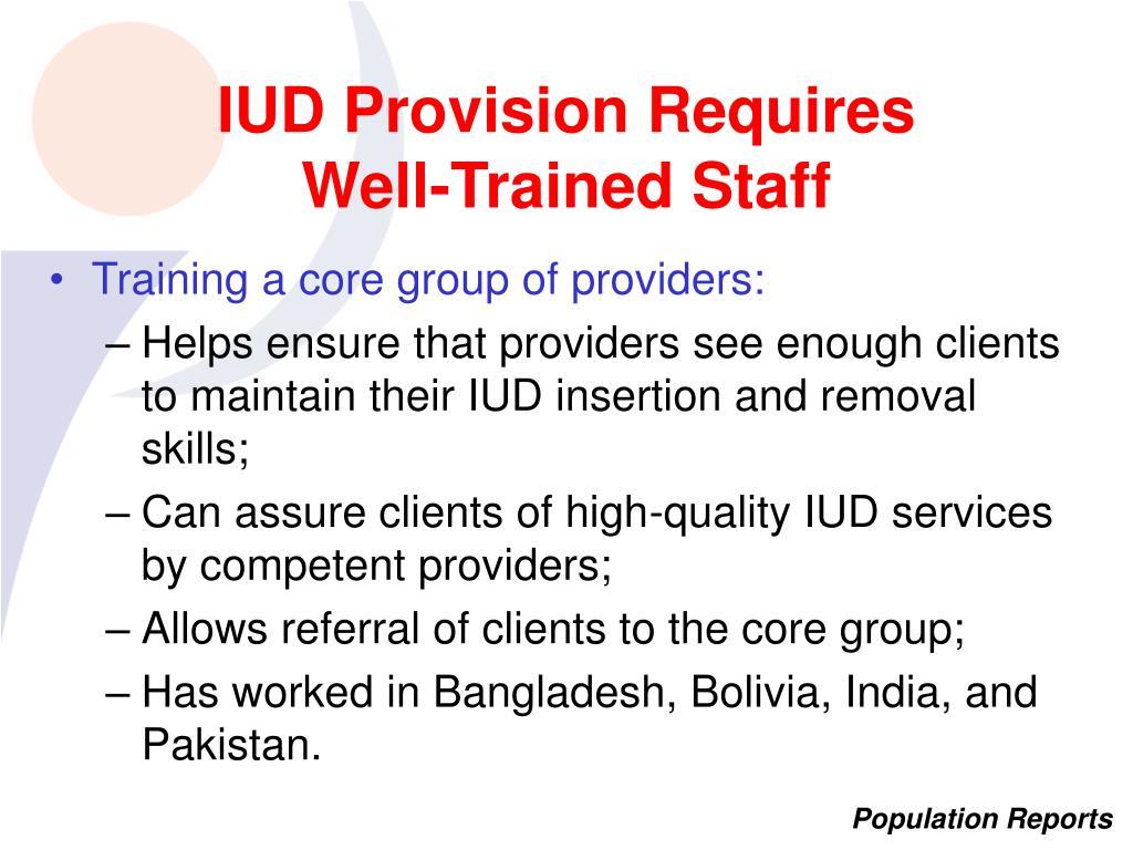 IUD Provision Requires