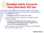 outdated safety concerns have held back iud use