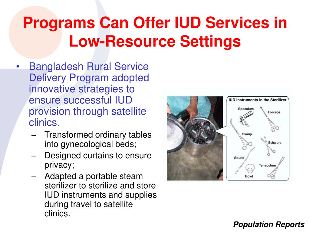 Programs Can Offer IUD Services in Low-Resource Settings