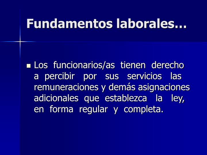 Fundamentos laborales…