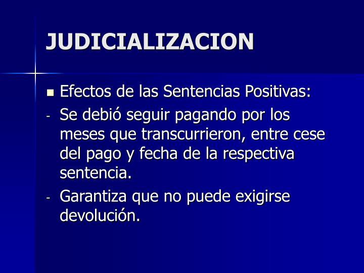 JUDICIALIZACION