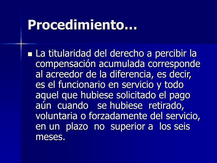 Procedimiento…