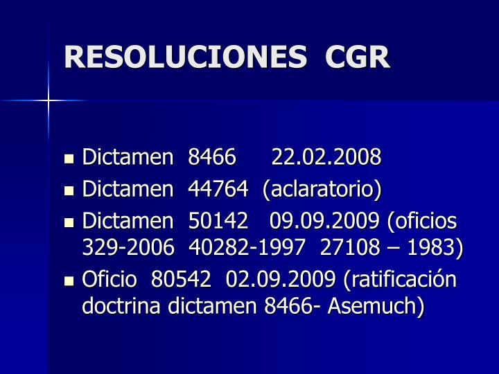 RESOLUCIONES  CGR