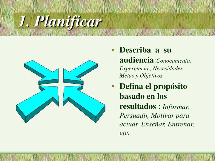 1. Planificar