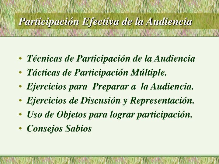 Participación Efectiva de la Audiencia
