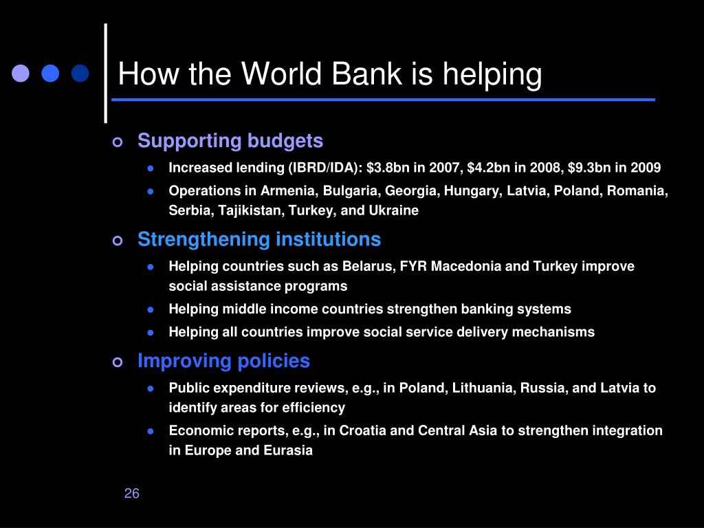 How the World Bank is helping