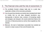 the financial crisis and the role of economists 1