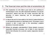 the financial crisis and the role of economists 4
