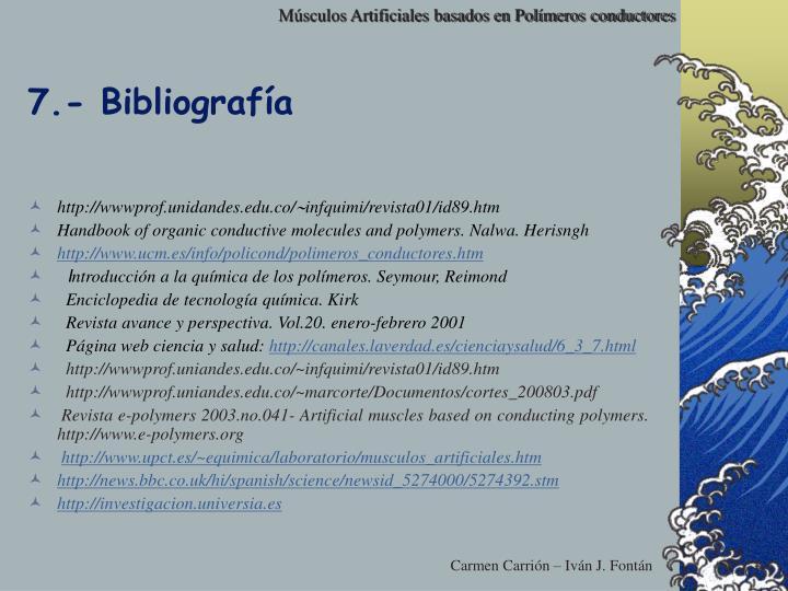7.- Bibliografía