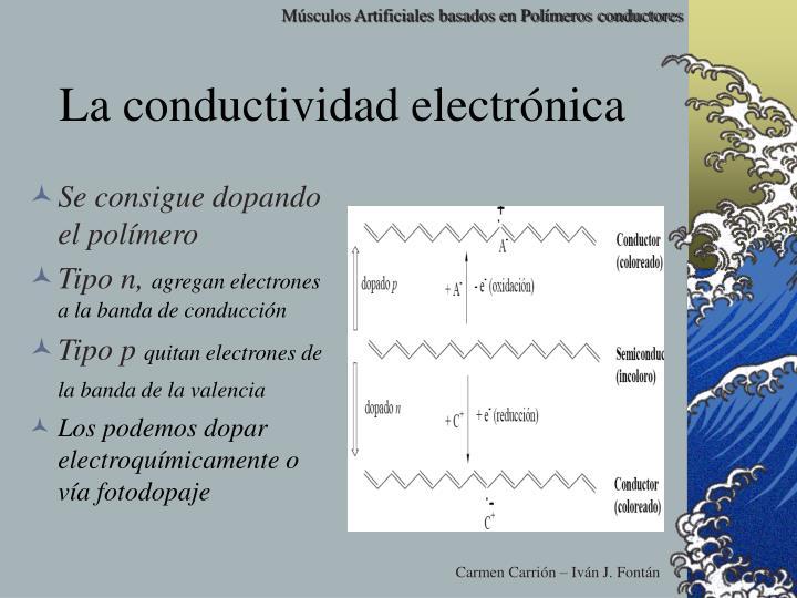 La conductividad electrónica