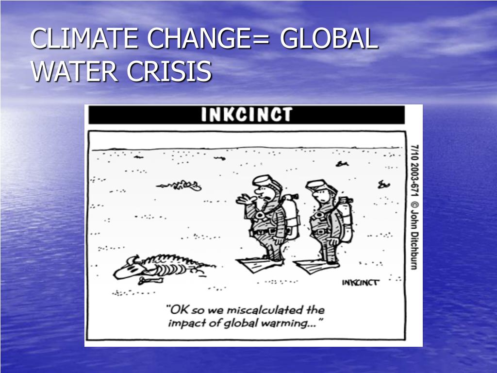 CLIMATE CHANGE= GLOBAL WATER CRISIS