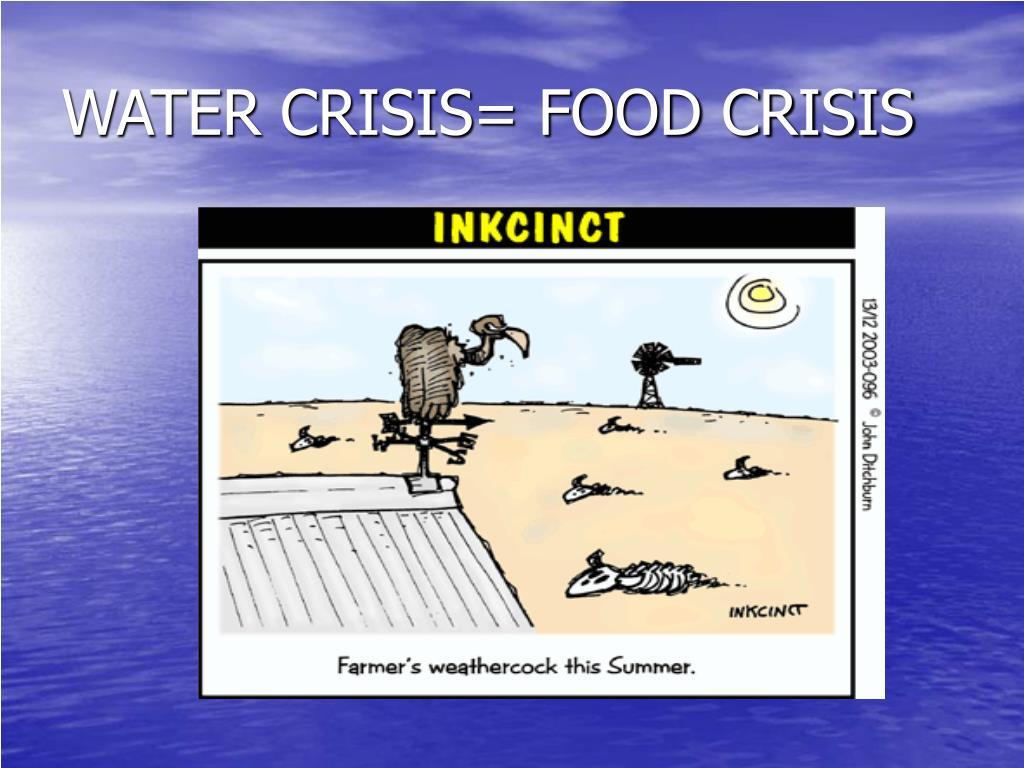 WATER CRISIS= FOOD CRISIS