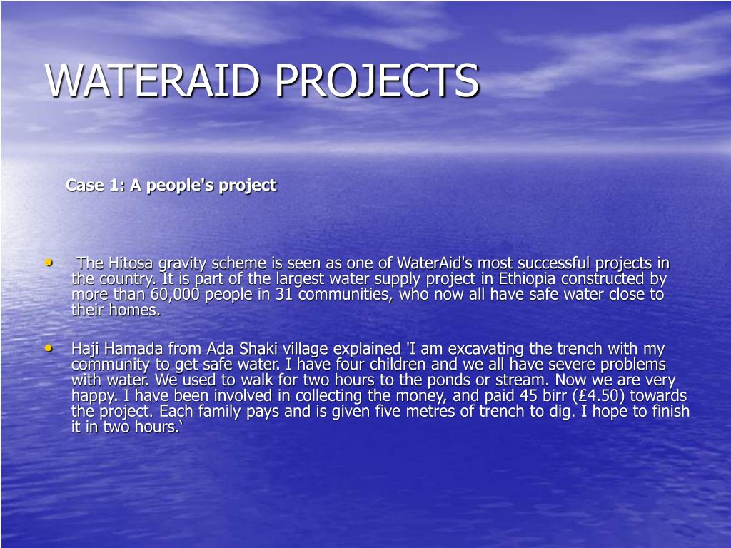 WATERAID PROJECTS