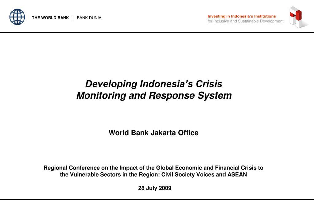 Investing in Indonesia's Institutions