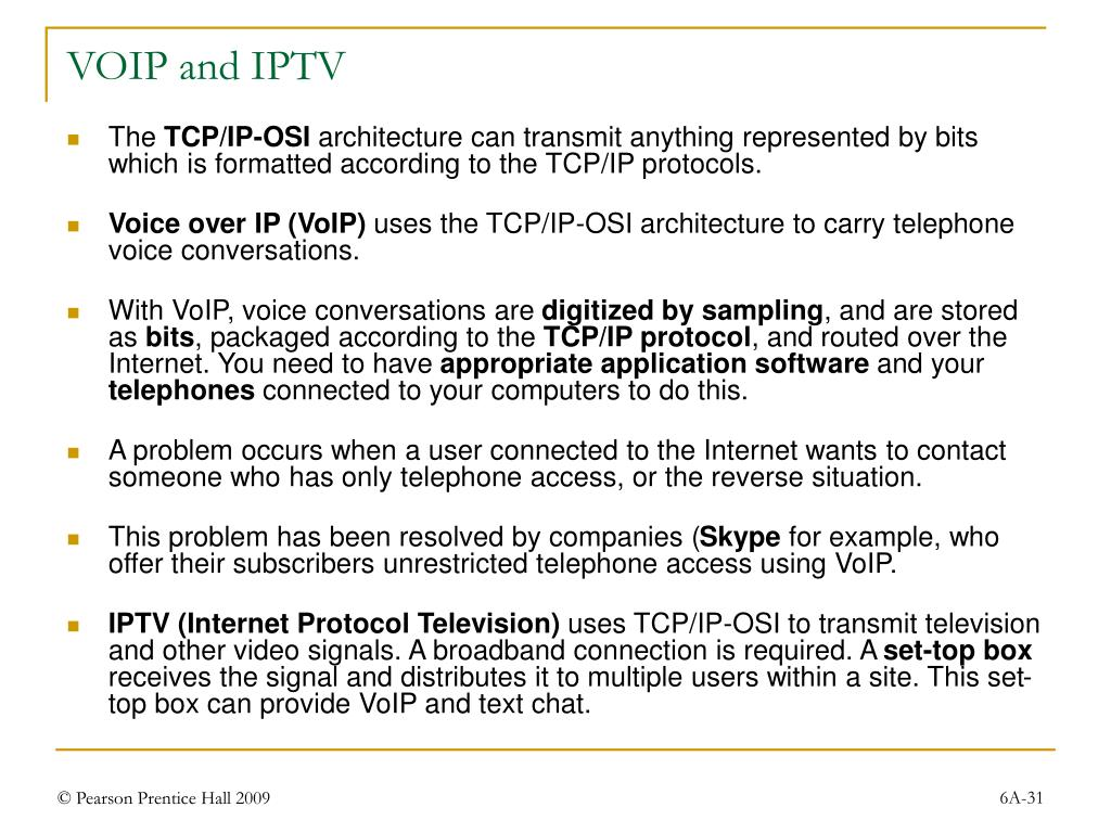 VOIP and IPTV