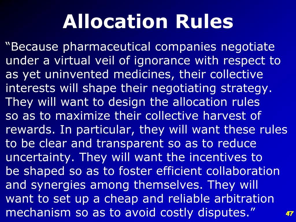 Allocation Rules