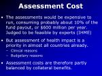 assessment cost