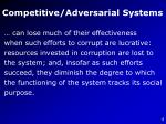 competitive adversarial systems5