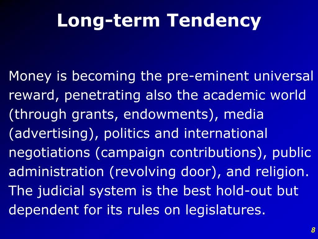 Long-term Tendency