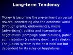 long term tendency