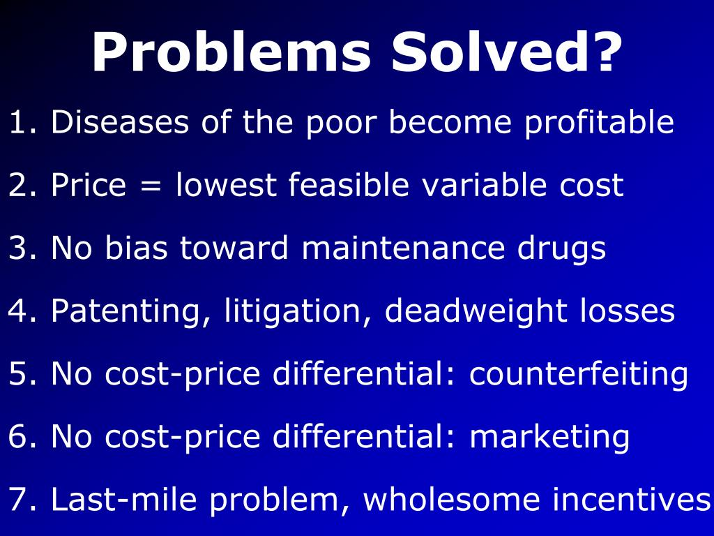 Problems Solved?