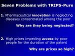 seven problems with trips pure