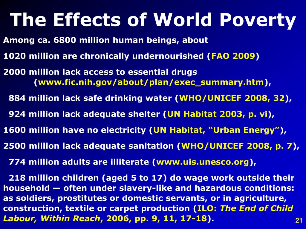 The Effects of World Poverty
