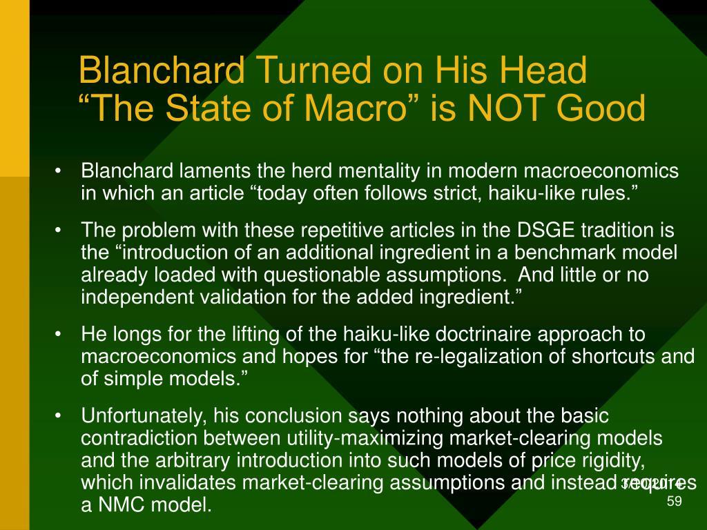 Blanchard Turned on His Head
