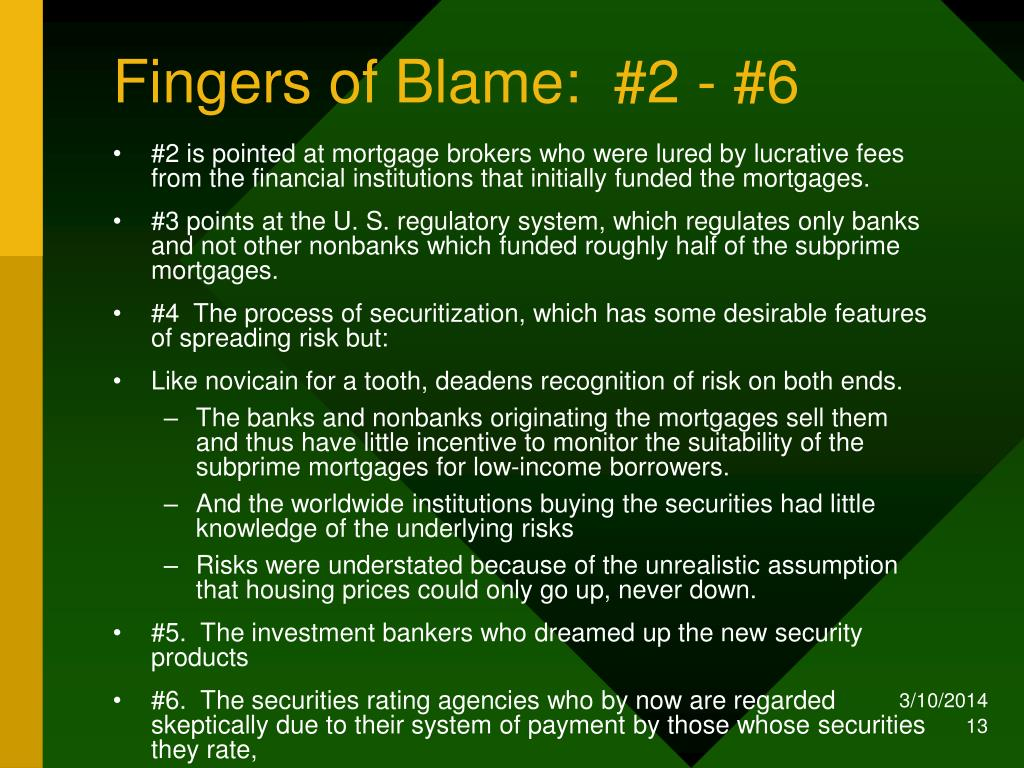 Fingers of Blame:  #2 - #6