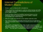 internal contradictions of modern macro