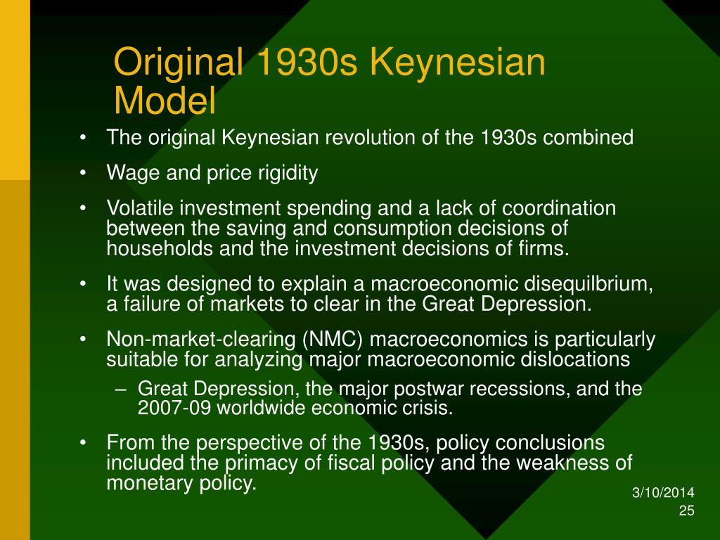 Original 1930s Keynesian Model