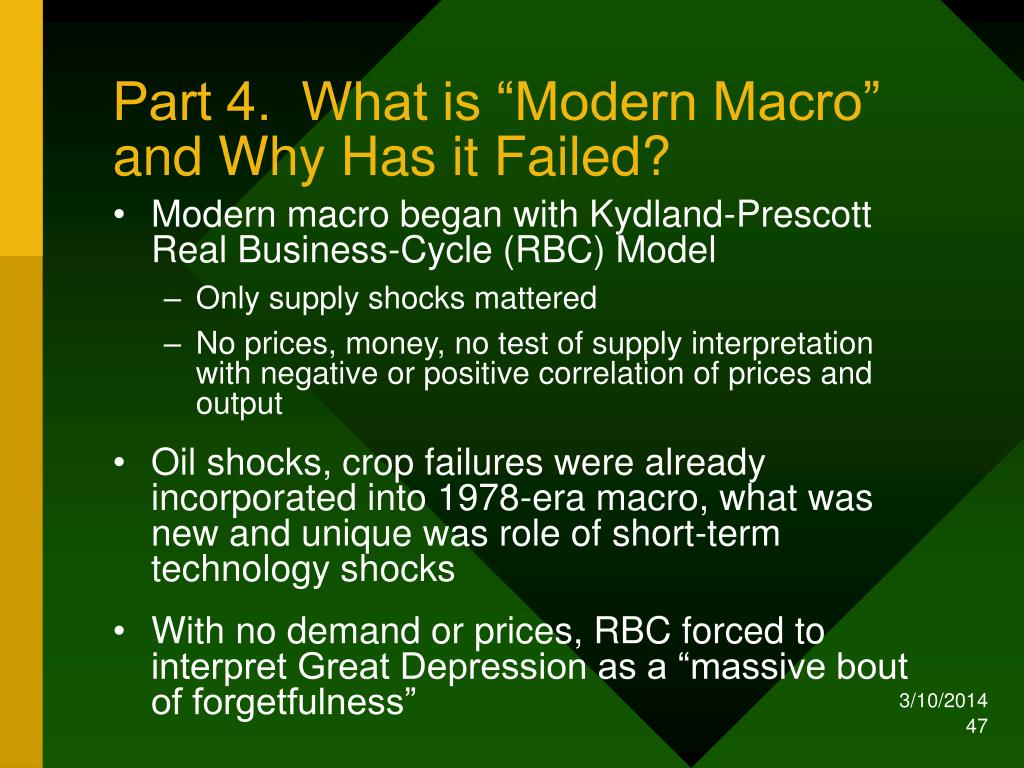 "Part 4.  What is ""Modern Macro"""