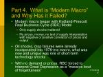 part 4 what is modern macro and why has it failed
