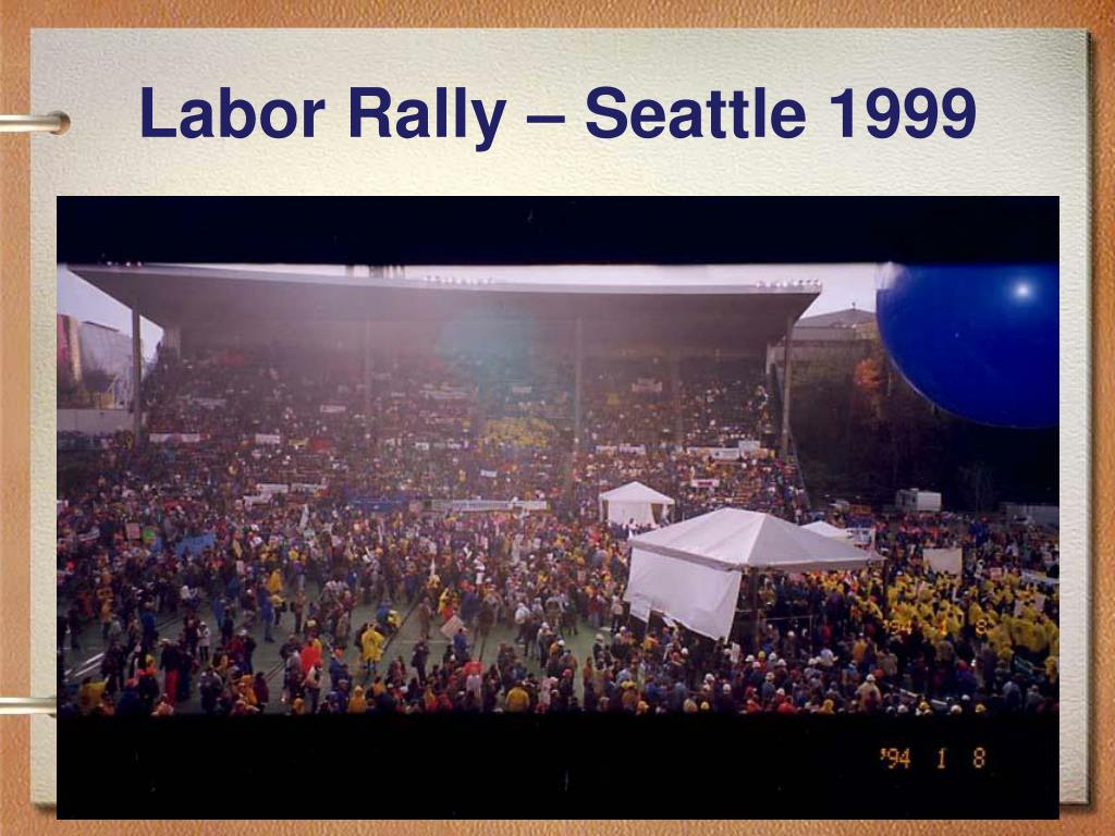 Labor Rally – Seattle 1999