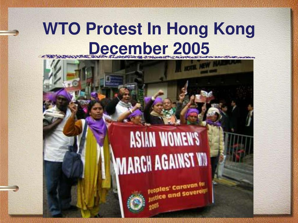 WTO Protest In Hong Kong December 2005