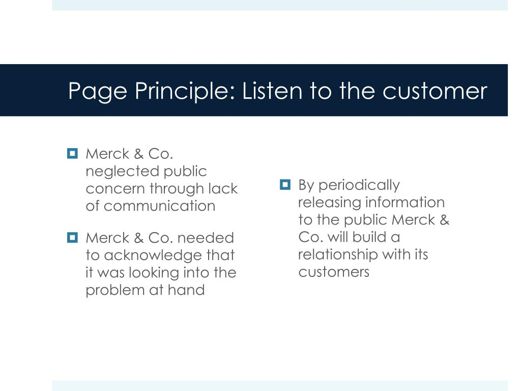 Page Principle: Listen to the customer