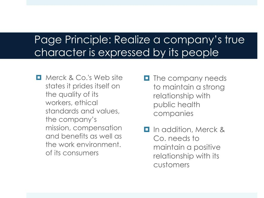Page Principle: Realize a company's true character is expressed by its people