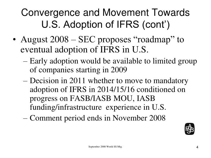 Convergence and movement towards u s adoption of ifrs cont l.jpg