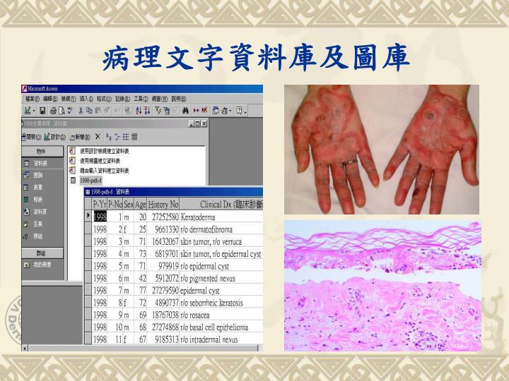病理文字資料庫及圖庫