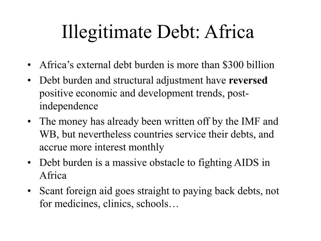 Illegitimate Debt: Africa