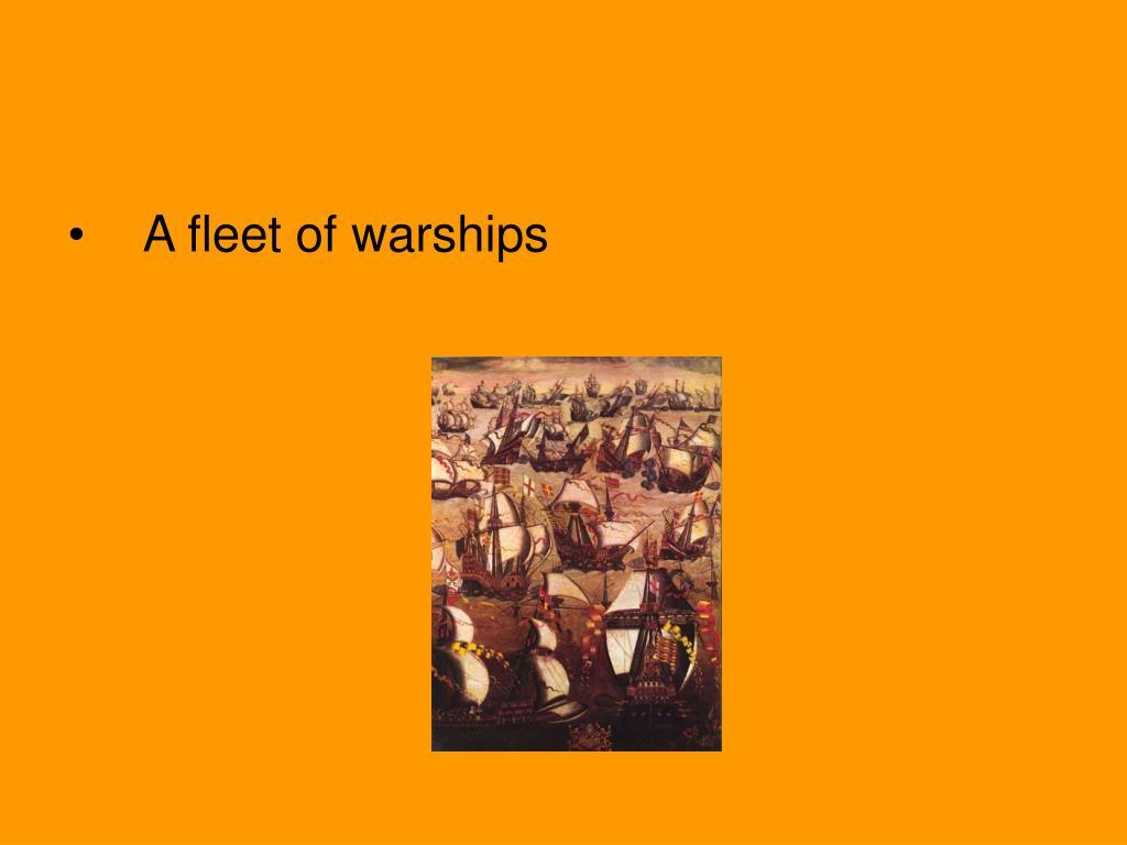 A fleet of warships